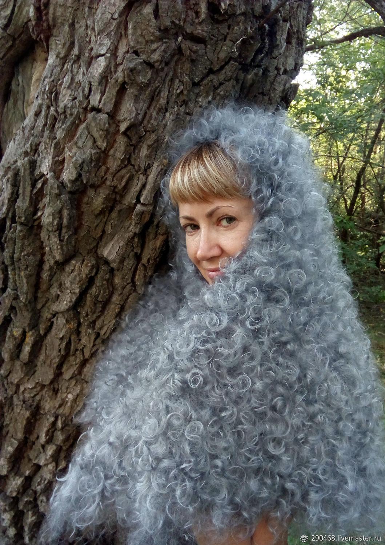 Shawls & Warm Stoles handmade. Livemaster - handmade. Buy Grey down scarf LANGUID EVENING.Fetish, warm gift