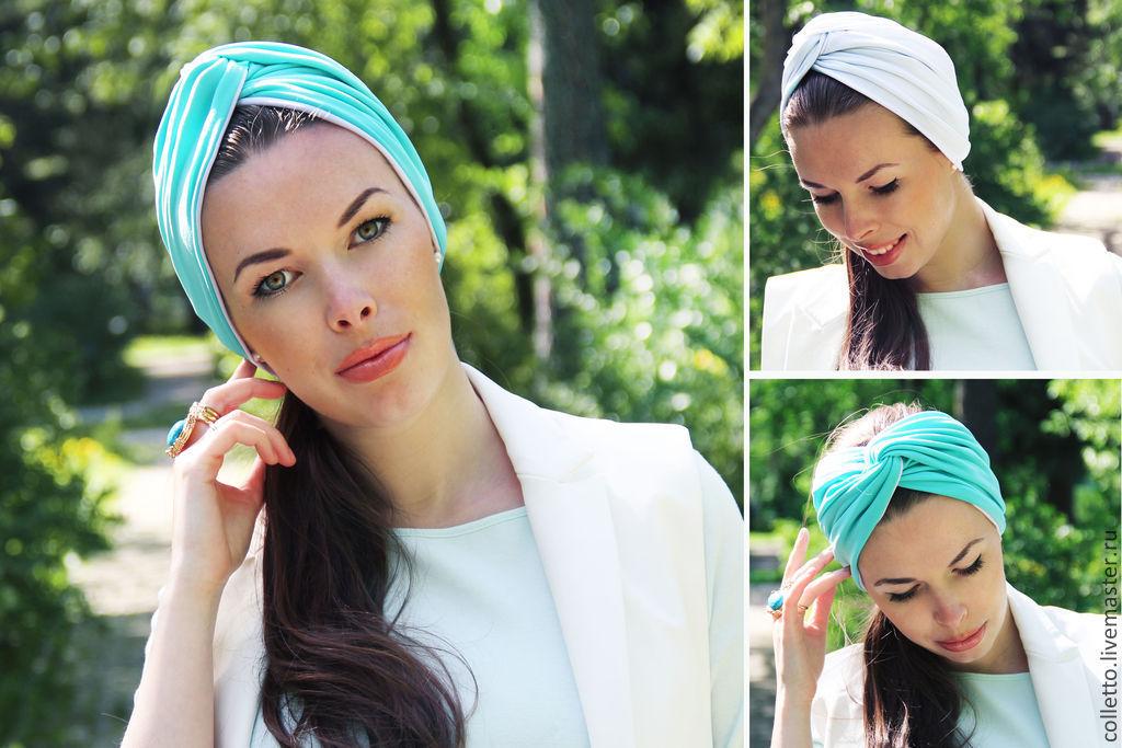 Модный платок на голову своими руками 37