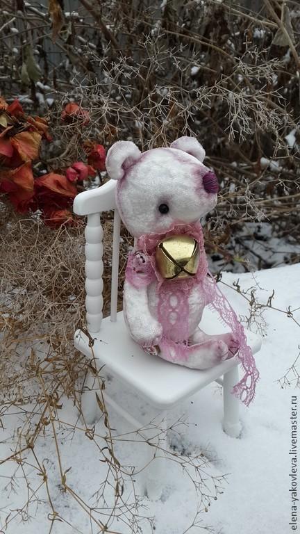 Мишки Тедди ручной работы. Ярмарка Мастеров - ручная работа. Купить мишка Буба. Handmade. Белый, буба, мулине