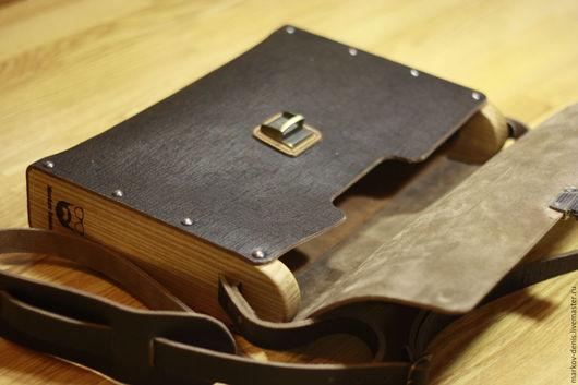 Мужские сумки ручной работы. Ярмарка Мастеров - ручная работа. Купить Сумка портфель. Handmade. Коричневый, ясень, кожа