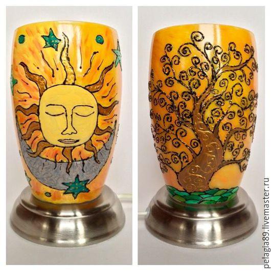 """Освещение ручной работы. Ярмарка Мастеров - ручная работа. Купить Светильник """"Моё большое солнце"""". Handmade. Светильник, солнце, Витраж"""