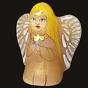 Статуэтки ручной работы. Ярмарка Мастеров - ручная работа Ангел с голубыми глазами - фигурка из камня Селенит. Handmade.