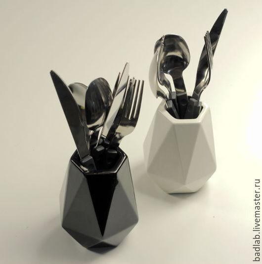 Вазы ручной работы. Ярмарка Мастеров - ручная работа. Купить Керамическая вазочка miniKIN (черная/белая). Handmade. Чёрно-белый, вазочки