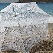 Свадебный салон handmade. Livemaster - original item The umbrella-cane Butterflies. Handmade.
