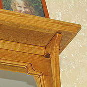 Для дома и интерьера ручной работы. Ярмарка Мастеров - ручная работа Зеркало съ полочкой. Handmade.