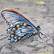 """Картины и панно ручной работы. Ярмарка Мастеров - ручная работа """"Золото на крыльях"""" - серия """"Драгоценные Бабочки"""". Handmade."""