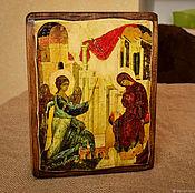 """Иконы ручной работы. Ярмарка Мастеров - ручная работа Икона на дереве """"Благовещение Марии"""" 15 вв. Handmade."""