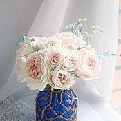 Цветы и флористика ручной работы. Ярмарка Мастеров - ручная работа Английский букет с дельфиниумом. Handmade.