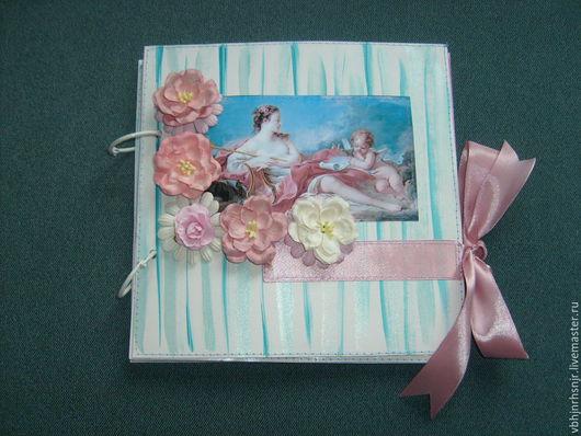 Фотоальбомы ручной работы. Ярмарка Мастеров - ручная работа. Купить Фотоальбом с ангелочками и цветами. шебби-шик. Handmade. Подарок, купить