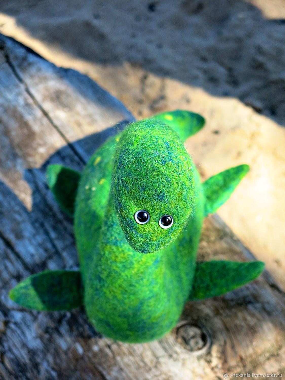 Лохнесское чудовище - Большая войлочная игрушка Несси, Войлочная игрушка, Санкт-Петербург,  Фото №1