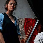 Одежда ручной работы. Ярмарка Мастеров - ручная работа Платье художницы. Handmade.