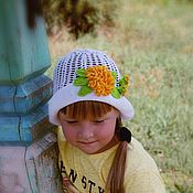 """Работы для детей, ручной работы. Ярмарка Мастеров - ручная работа Панамка """" Хризантемы"""". Handmade."""