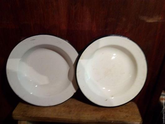 Тарелки эмалированные глубокие,порционные. диаметр 28 см,высота 4 см