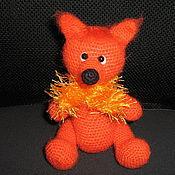 Куклы и игрушки ручной работы. Ярмарка Мастеров - ручная работа Вязаная игрушка Лисенок. Handmade.