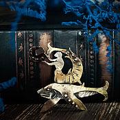 """Украшения ручной работы. Ярмарка Мастеров - ручная работа Брошь """"Рыбий рыцарь"""". Handmade."""