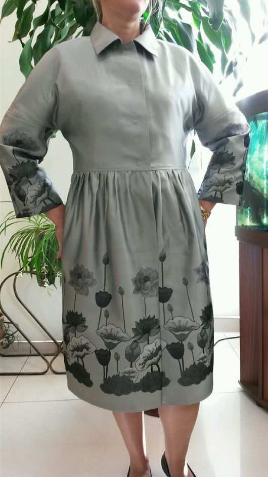 Верхняя одежда ручной работы. Ярмарка Мастеров - ручная работа. Купить Плащ легкий. Handmade. Серый, верхняя одежда, полиэстер