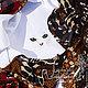 Шали, палантины ручной работы. Шаль косынка «Кошка невская маскарадная». Семейное ателье ,,Петровская эпоха,. Ярмарка Мастеров.