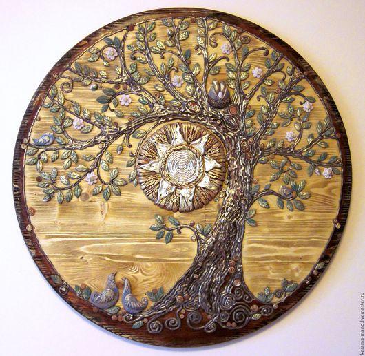 """Символизм ручной работы. Ярмарка Мастеров - ручная работа. Купить Панно """" Древо жизни"""". Handmade. Комбинированный, гнездо"""