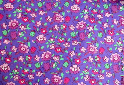 хлопок  Фиолетовые цветы