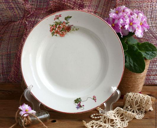 Винтажная посуда. Ярмарка Мастеров - ручная работа. Купить Тарелка Foreign made Дулево. Handmade. Тарелка, купить в москве, дулево