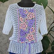 Одежда handmade. Livemaster - original item Crocheted blouse Cool.. Handmade.