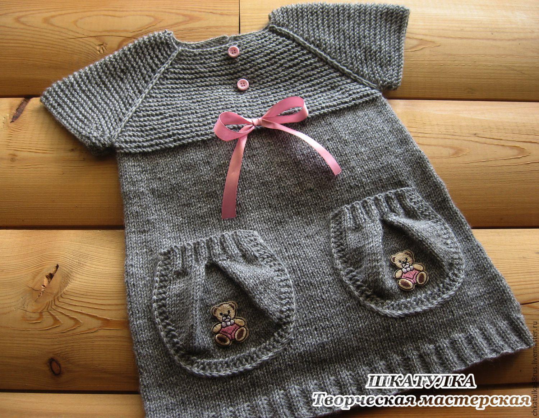 Вязание сарафана или туники для девочки