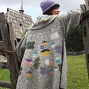"Одежда handmade. Livemaster - original item Sirogojno style wool jacket hand knitted in Serbia ""Amazing landscape"". Handmade."