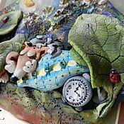 """Картины и панно ручной работы. Ярмарка Мастеров - ручная работа """"Не проспать бы..."""", керамическое панно. Handmade."""