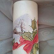 Свечи ручной работы. Ярмарка Мастеров - ручная работа свеча новогодний домик. Handmade.