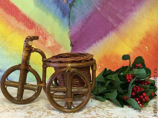 """Материалы для флористики ручной работы. Ярмарка Мастеров - ручная работа. Купить Кашпо """" Велосипед """" (4 размера) ротанг. Handmade."""