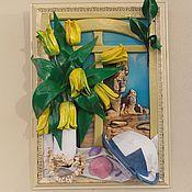 Картины и панно ручной работы. Ярмарка Мастеров - ручная работа У синего моря. Handmade.