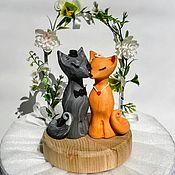 Свадебный салон ручной работы. Ярмарка Мастеров - ручная работа Топпер Лиса и Волк, фигурки для свадебного торта. Handmade.