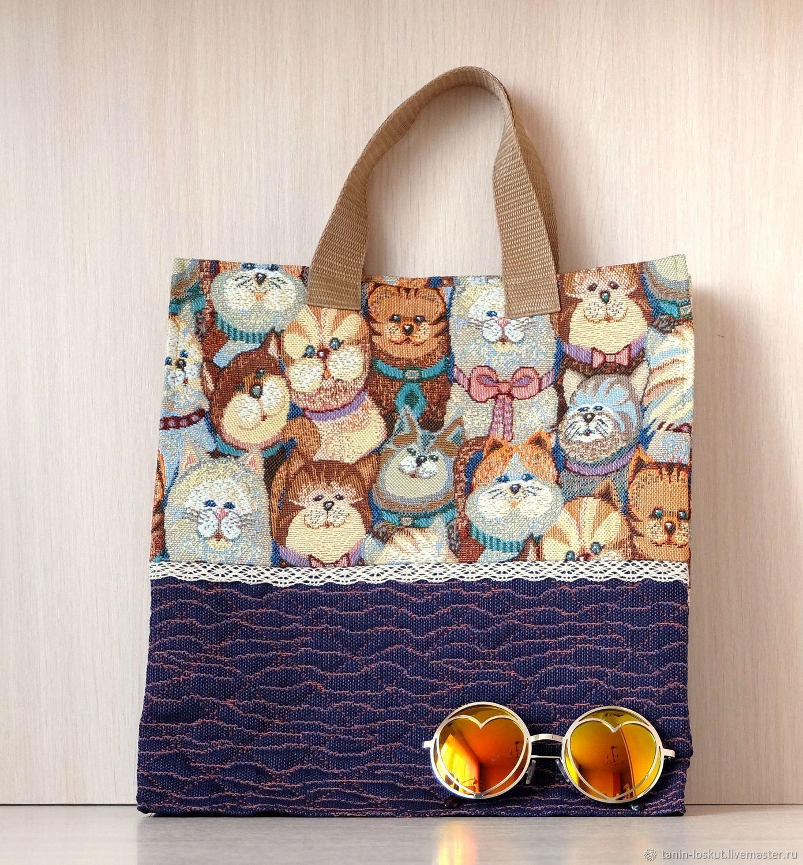 Котики. Сумка гобеленовая, Классическая сумка, Балашиха,  Фото №1