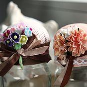"""Для дома и интерьера ручной работы. Ярмарка Мастеров - ручная работа Игольница """"Цветочная корзинка"""". Handmade."""
