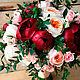 Свадебный букет невесты из живых цветов Винный
