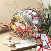 Подарки к праздникам ручной работы. Ярмарка Мастеров - ручная работа Моему любимому Баночка желаний. Handmade.