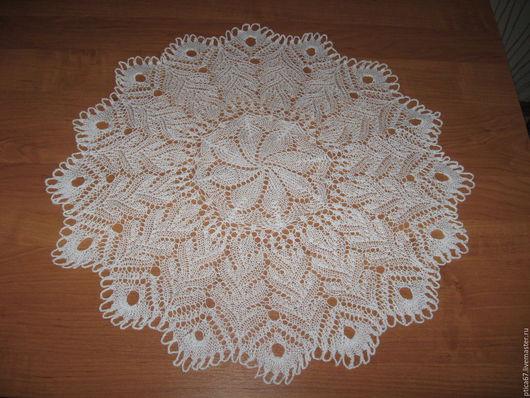 """Текстиль, ковры ручной работы. Ярмарка Мастеров - ручная работа. Купить Ажурная салфетка """"Ноктюрн"""". Handmade. Белый"""