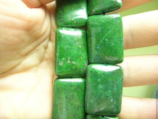 Для украшений ручной работы. Ярмарка Мастеров - ручная работа. Купить Бусина крупная зеленая. 25x18x5мм. Handmade. Зеленый, крупная