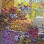 """Картины и панно ручной работы. Ярмарка Мастеров - ручная работа Натюрморт """"Летний день"""" картина маслом. Handmade."""