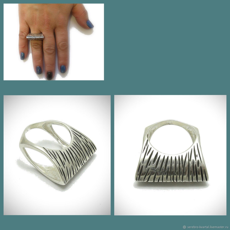 Ring of original shape. Silver 925 sample, Rings, Turin,  Фото №1
