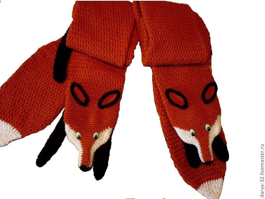 шарф лисичка схема вязания