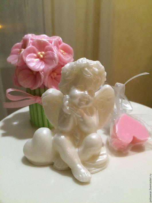 """Мыло ручной работы. Ярмарка Мастеров - ручная работа. Купить Мыло""""Нежный Ангел""""подарок на день Ангела. Handmade. Белый, мыло для детей"""
