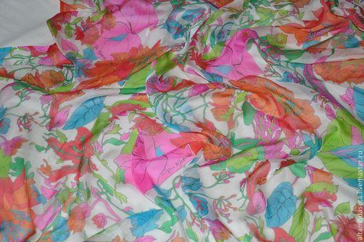 """Шитье ручной работы. Ярмарка Мастеров - ручная работа. Купить Шифон шелковый """"Gai Mattiolo"""". Handmade. Нарядное платье, одежда"""