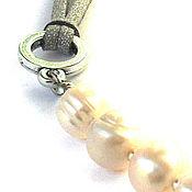Украшения handmade. Livemaster - original item stylish necklace with white pearls
