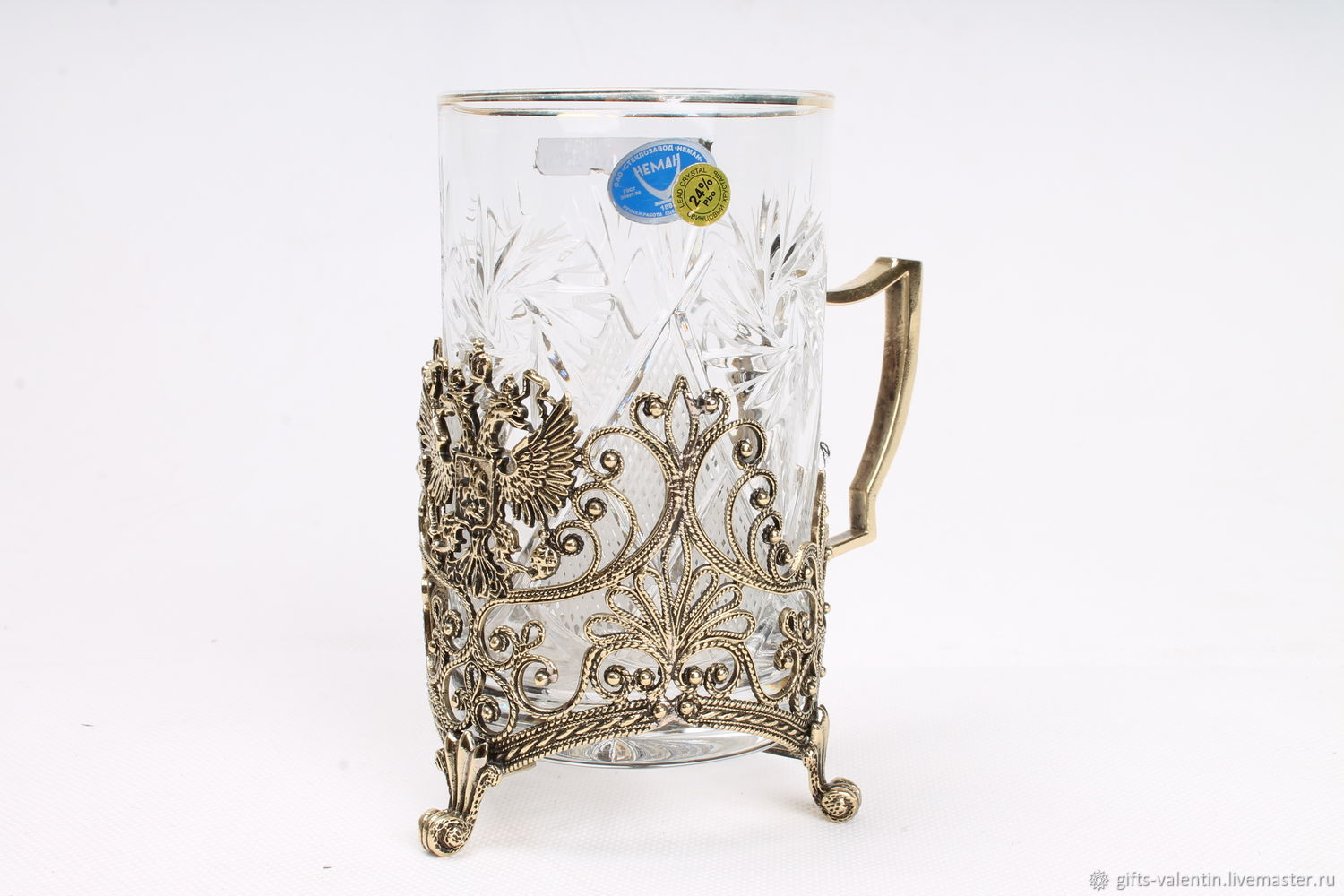 Cup holder 'coat of Arms' artistic filigree casting, Water Glasses, Vacha,  Фото №1