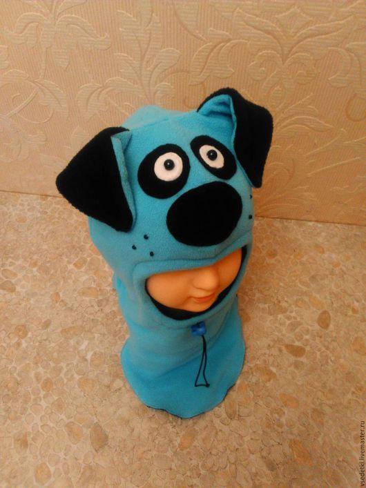 Шапки и шарфы ручной работы. Ярмарка Мастеров - ручная работа. Купить шапка шлем собака. Handmade. Бирюзовый, шапка с ушками