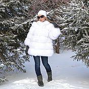 Одежда handmade. Livemaster - original item fur coat fox fur. Cross. sleeve 7/8.. Handmade.