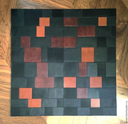 Текстиль, ковры ручной работы. Ярмарка Мастеров - ручная работа. Купить Кожаный ковер на пол. Handmade. Коричневый, ковер на пол