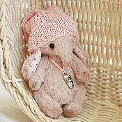 Куклы и игрушки ручной работы. Ярмарка Мастеров - ручная работа мини слоник Буся  (9см.). Handmade.
