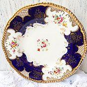 Винтаж ручной работы. Ярмарка Мастеров - ручная работа Антикварная обеденная тарелка Coalport. Handmade.